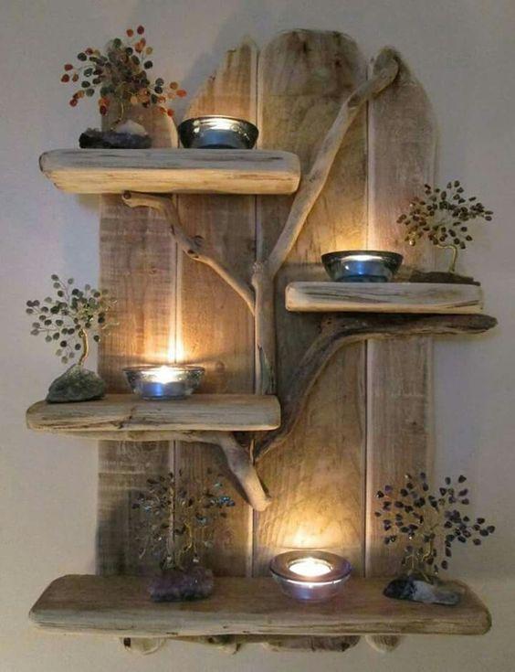 d co avec bougies et palettes 20 id es laissez vous inspirer. Black Bedroom Furniture Sets. Home Design Ideas