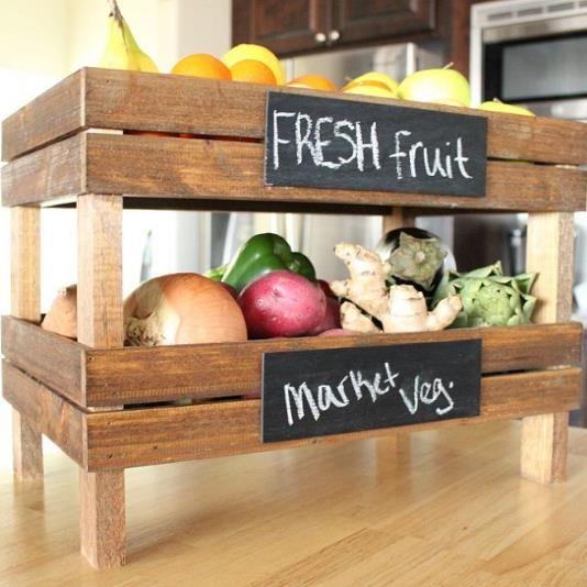 Superbes créations avec des caisses de fruits