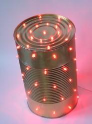 D corer avec les boites de conserve pour noel 20 id es tutoriel vid o - Lampe avec boite de conserve ...