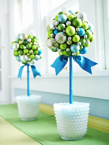 Déco créatives avec des boules de Noel