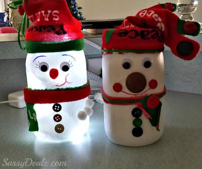 Déco Noel avec des bocaux en verre