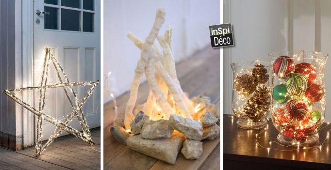 voici 20 id es d co lumineuses pour noel laissez vous inspirer. Black Bedroom Furniture Sets. Home Design Ideas