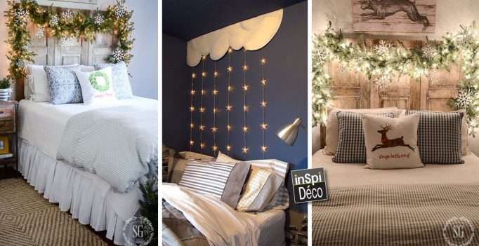 D co pour une t te de lit originale noel 20 id es for Creer une tete de lit originale