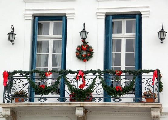 Decoration Balcon De Noel.Decorer Le Balcon Pour Noel 20 Idees Pour Vous Inspirer
