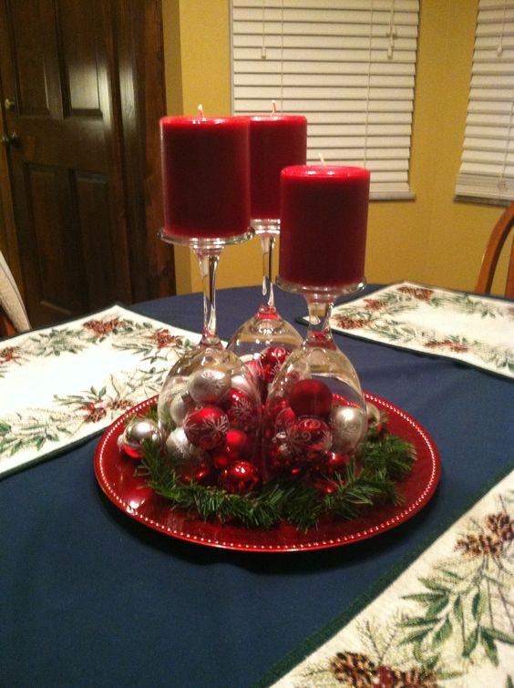 Réaliser un Bougeoir de Noel avec un verre