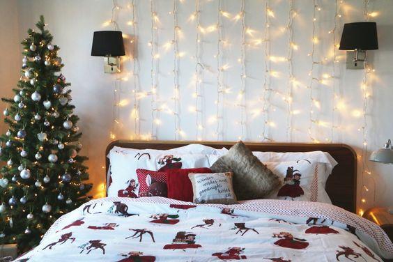 déco pour une tête de lit originale à Noel