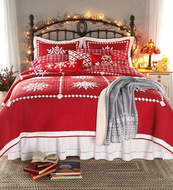 D co pour une t te de lit originale noel 20 id es - Decoration de noel originale ...
