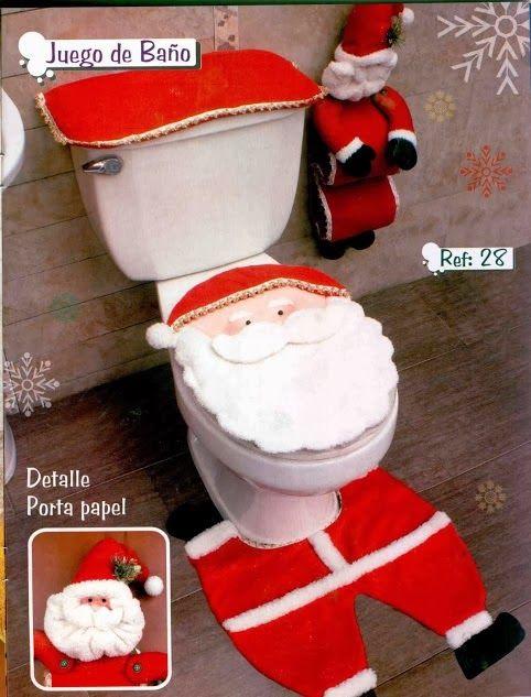 d corer les toilettes noel 13 id es tr s sympa pour vous inspirer. Black Bedroom Furniture Sets. Home Design Ideas