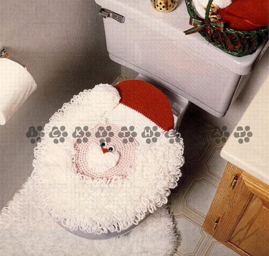 D corer les toilettes noel 13 id es tr s sympa pour vous inspirer - Decorer les toilettes ...