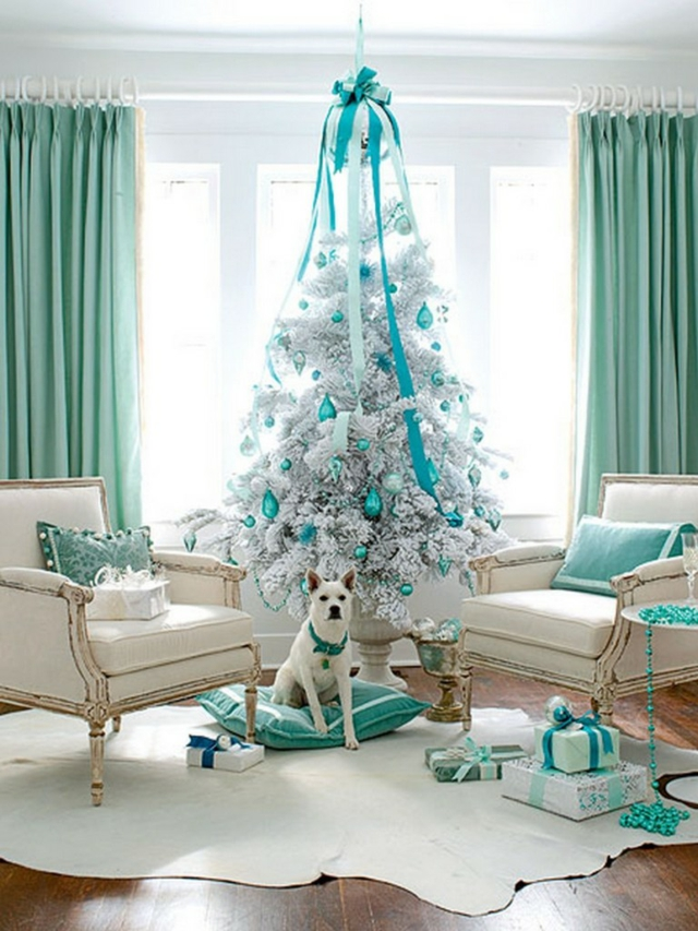 A Christmas in turquoise! Here are 20 ideas to inspire you... on
