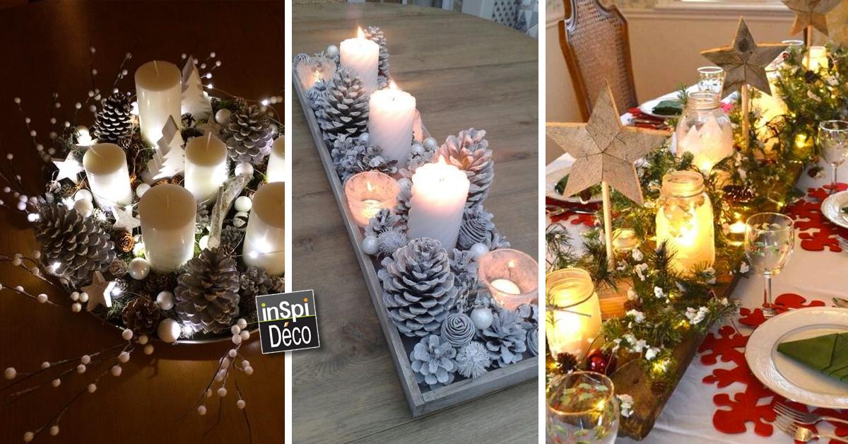 Magnifiques centres table pour noel 20 id es pour vous inspirer - Idee table de noel ...
