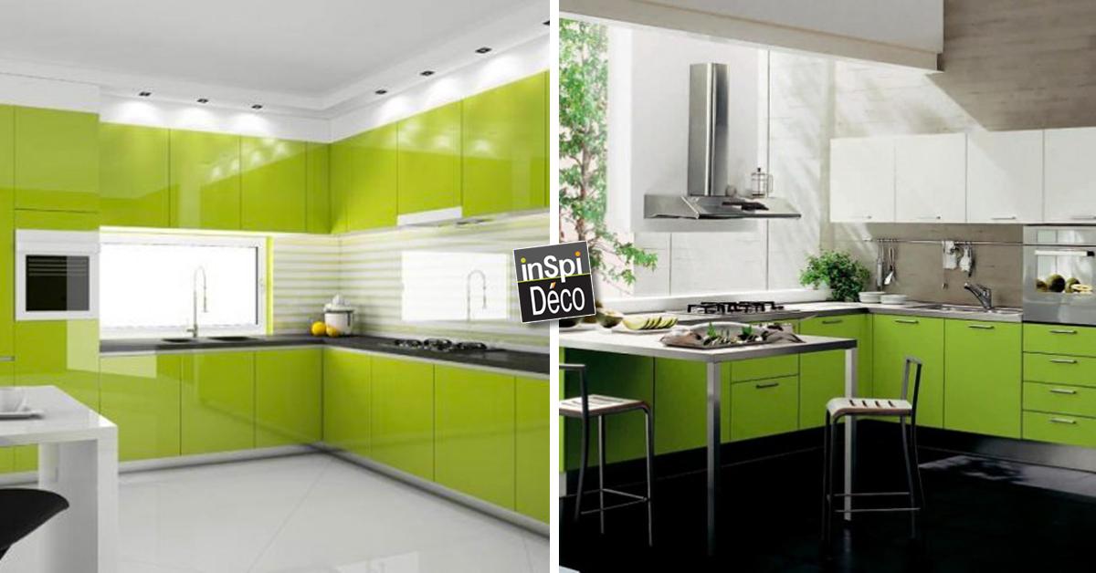 marier le vert dans la cuisine voici 16 id es laissez vous inspirer. Black Bedroom Furniture Sets. Home Design Ideas