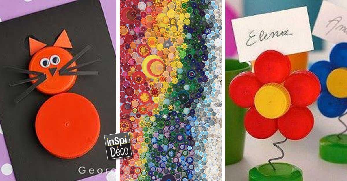 Recyclage cr atif des bouchons en plastique 20 id es pour for Exterieur creatif