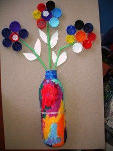 riciclare tappi di plastica idee 16