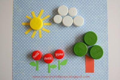 riciclare tappi di plastica idee 8