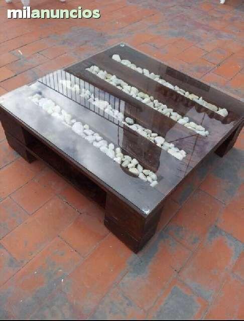 paletas de madera de mesa muy original idea n 20 - Mesas Con Palets
