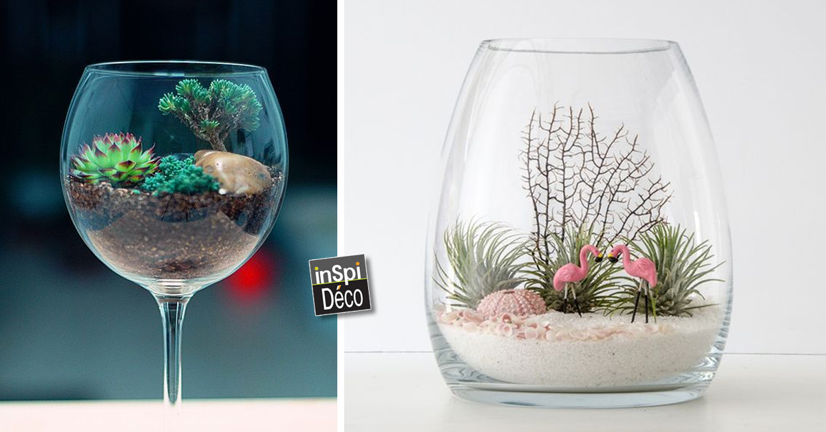 un mini terrarium fait maison 20 id es tutoriel vid o. Black Bedroom Furniture Sets. Home Design Ideas