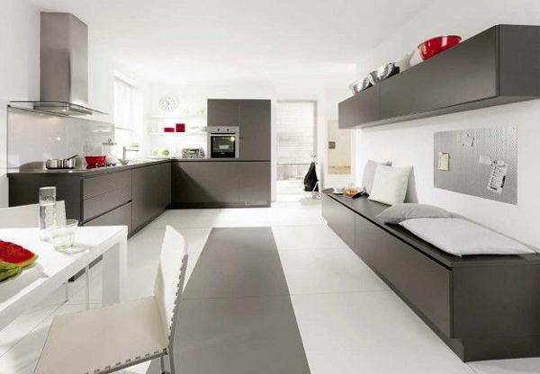 Dégradés de gris dans la cuisine