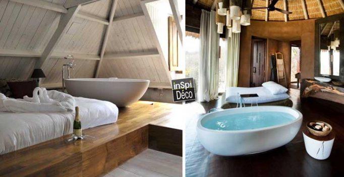 une baignoire dans la chambre coucher 26 exemples magnifiques