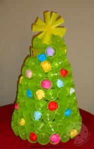 Déco Noel avec verres en plastique