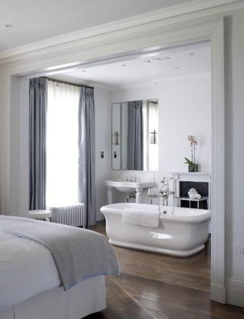 Vasca da bagno nella camera da letto! 26 esempi belli...