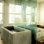 une baignoire dans la chambre coucher 26 exemples magnifiques. Black Bedroom Furniture Sets. Home Design Ideas