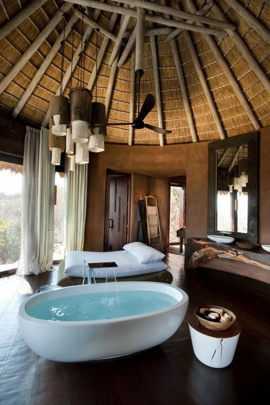 Une baignoire dans la chambre coucher 26 exemples for Camere da letto 2016