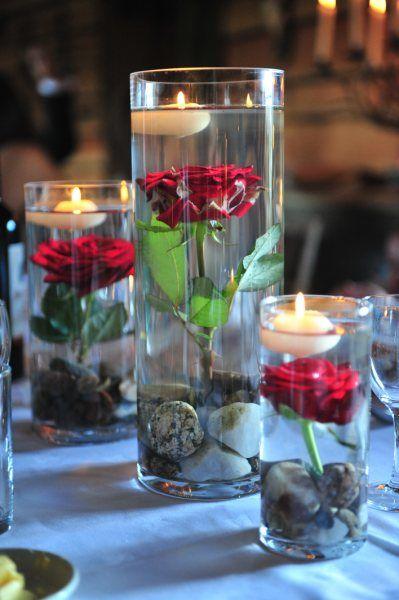 Des bougies flottantes
