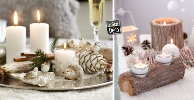 Centres de table pour noel 20 id es tutoriel video for Decor table de noel