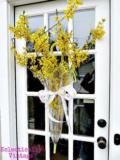 composioni di fiori con ombrello 15