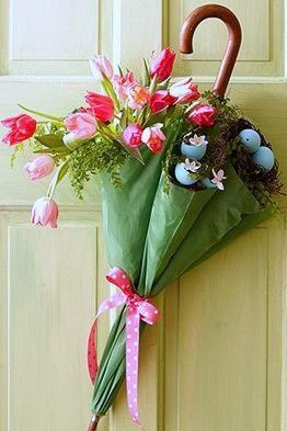 composioni di fiori con ombrello 2