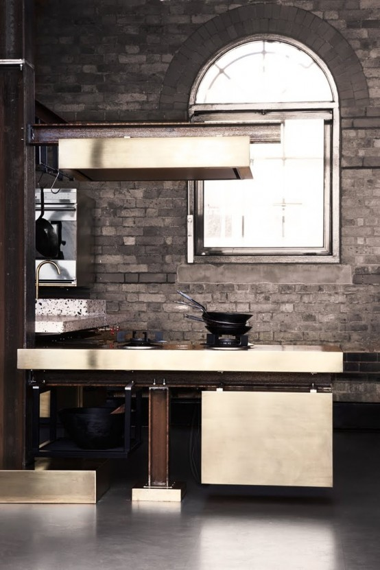 cucine parete mattoni 1