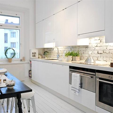 Una cucina con pareti in pietra! Qui ci sono 69 decorazione idee...