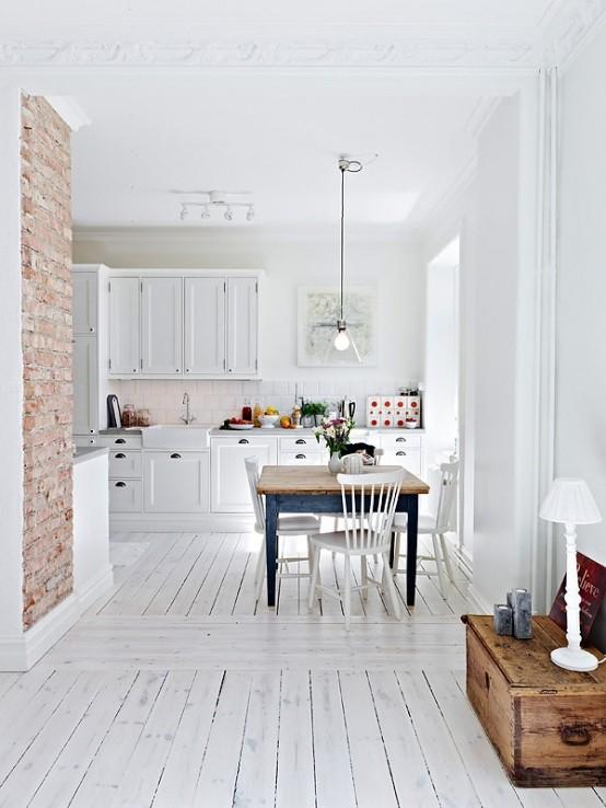 cucine parete mattoni 17