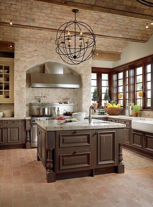 cucine parete mattoni 20