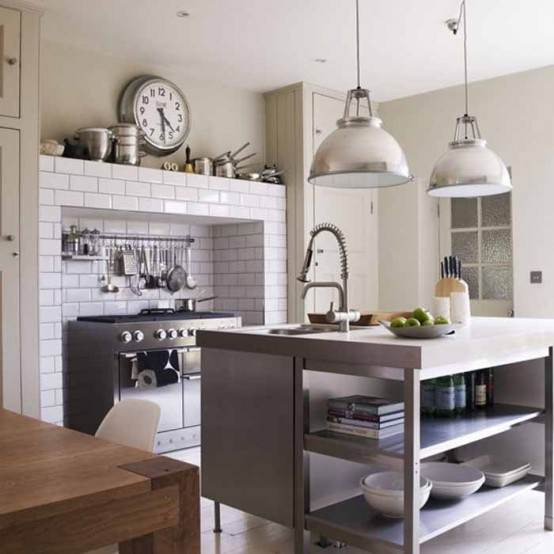 cucine parete mattoni 21