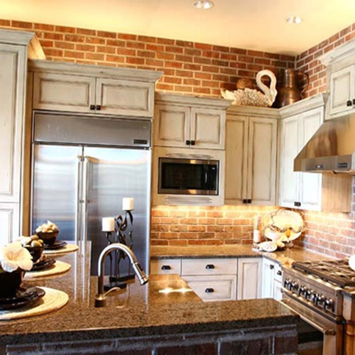 cucine parete mattoni 24