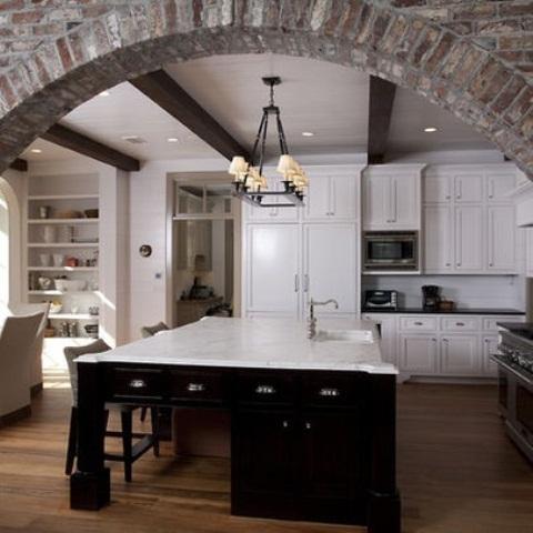 cucine parete mattoni 40