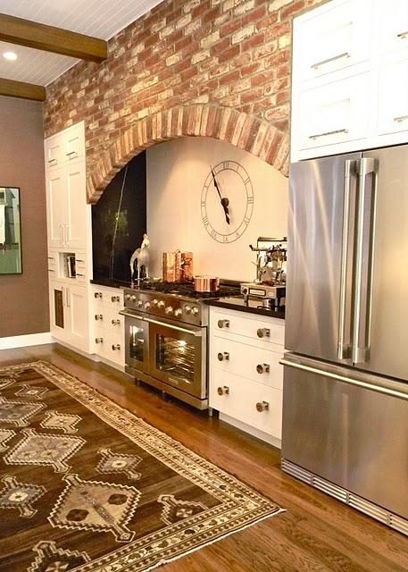 cucine parete mattoni 44