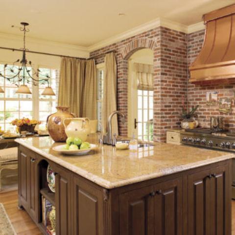 cucine parete mattoni 46