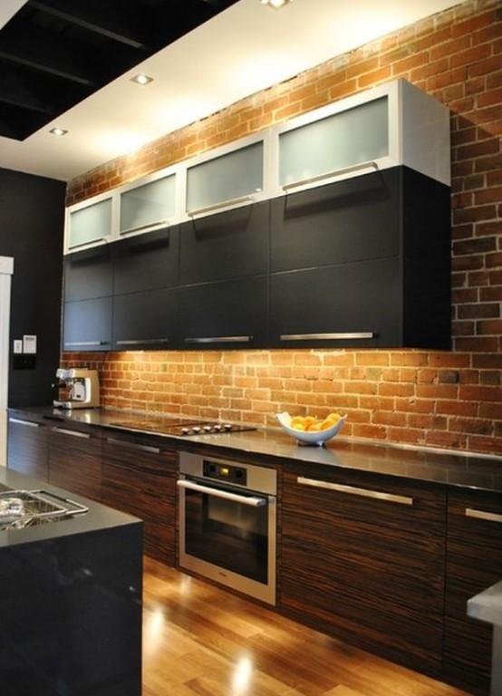 cucine parete mattoni 5