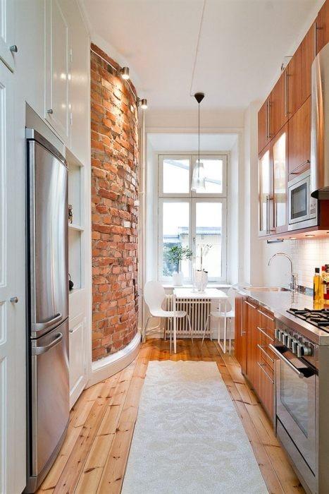 cucine parete mattoni 50