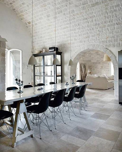 cucine parete mattoni 57