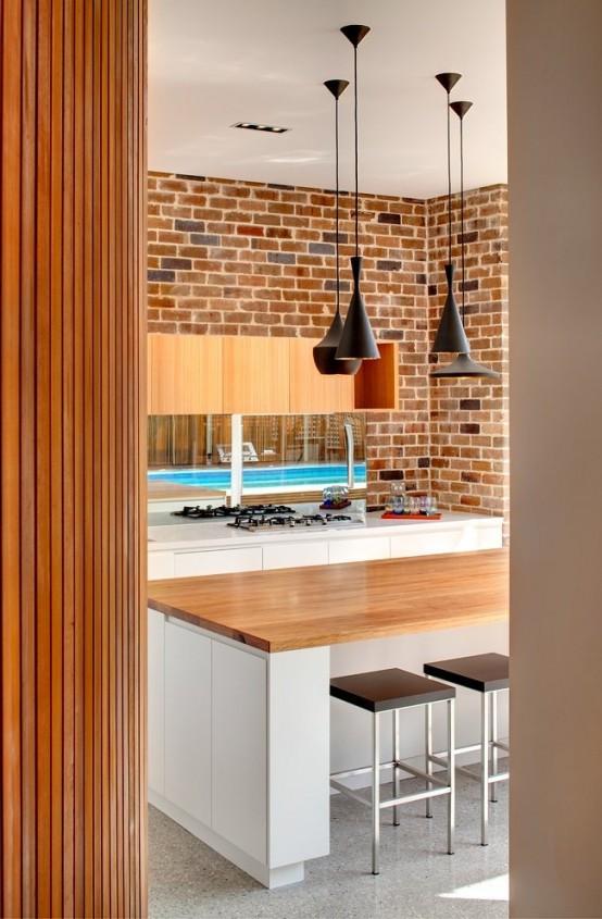 cucine parete mattoni 58