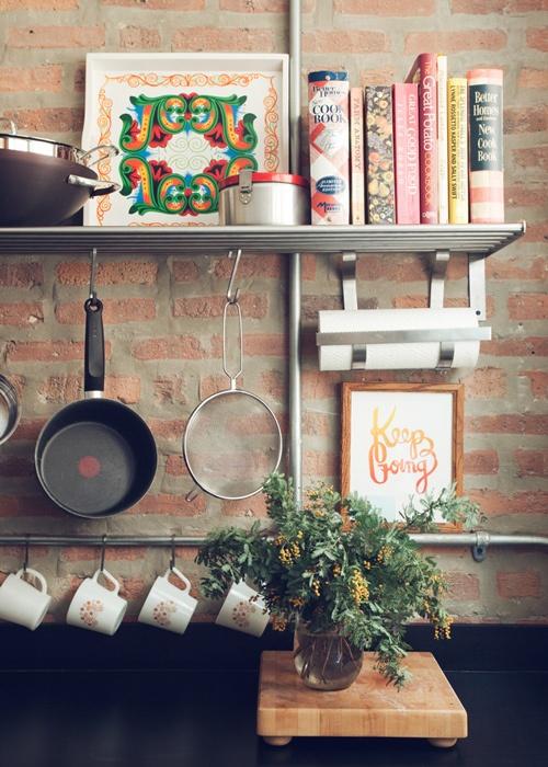 cucine parete mattoni 6