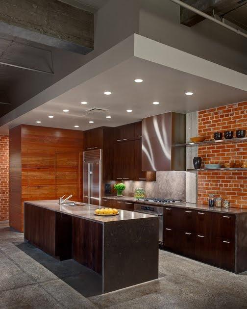 cucine parete mattoni 61