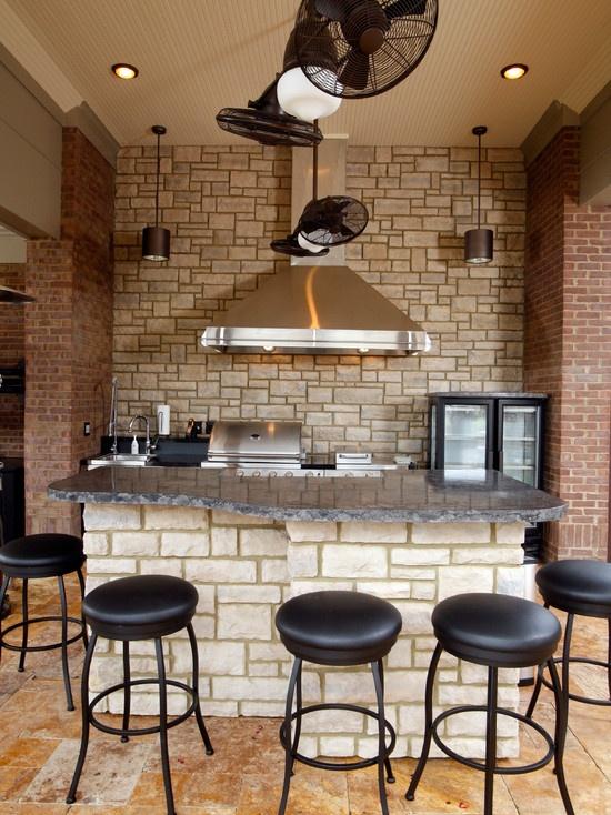 cucine parete mattoni 63