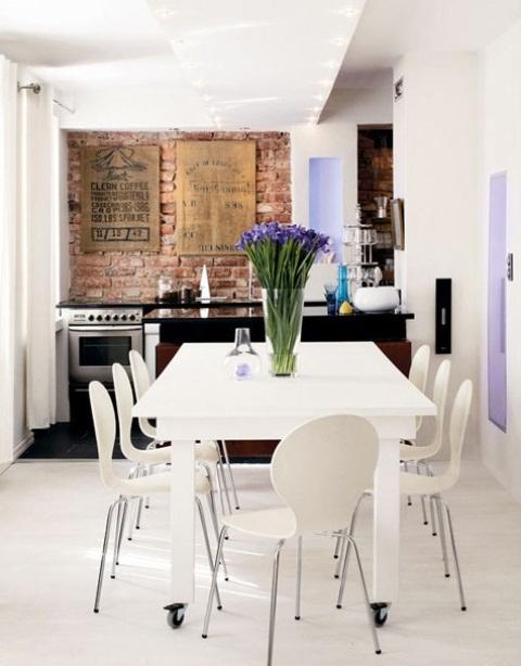 cucine parete mattoni 66