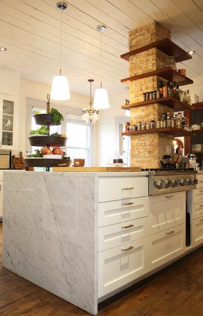 cucine parete mattoni 9