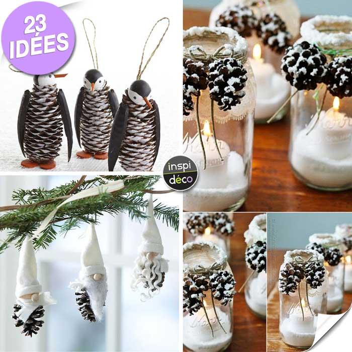 D corer avec des pommes de pin voici 23 id es cr atives - Decoration avec des pommes de pin ...